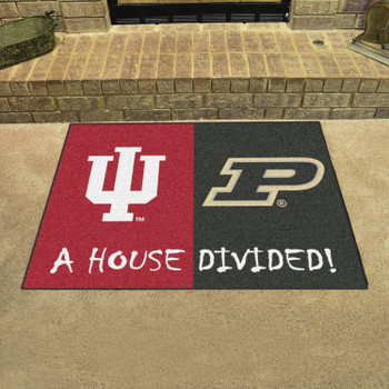 "33.75"" x 42.5"" Indiana / Purdue House Divided Rectangle Mat"