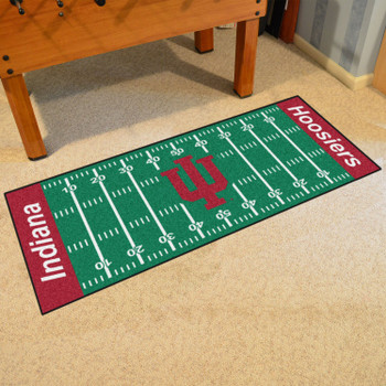 "30"" x 72"" Indiana University Football Field Rectangle Runner Mat"