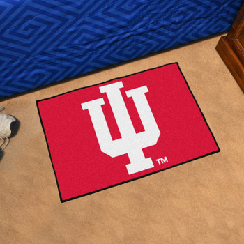 "19"" x 30"" Indiana University Red Rectangle Starter Mat"