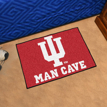 "19"" x 30"" Indiana University Man Cave Starter Red Rectangle Mat"