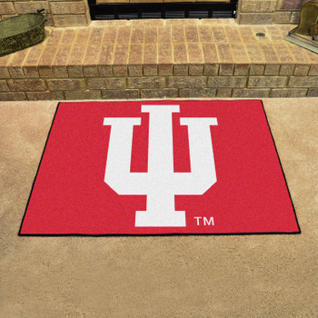 "33.75"" x 42.5"" Indiana University All Star Red Rectangle Mat"