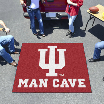 "59.5"" x 71"" Indiana University Man Cave Tailgater Red Rectangle Mat"