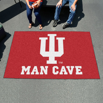 "59.5"" x 94.5"" Indiana University Man Cave Red Rectangle Ulti Mat"
