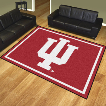 8' x 10' Indiana University Red Rectangle Rug