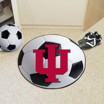 "27"" Indiana University Soccer Ball Round Mat"