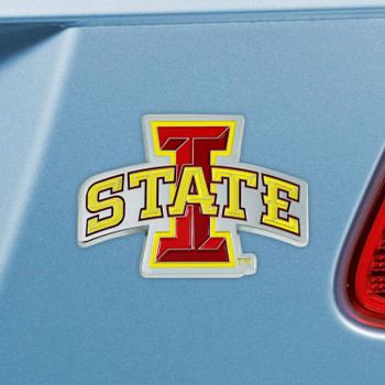 Iowa State University Red Color Emblem, Set of 2