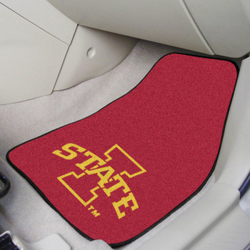 Iowa State University Red Carpet Car Mat, Set of 2