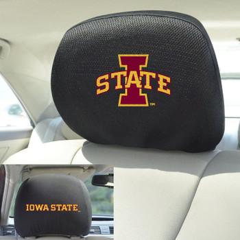 Iowa State University Car Headrest Cover, Set of 2