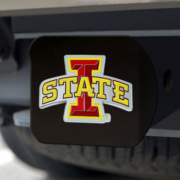 Iowa State University Hitch Cover - Color on Black