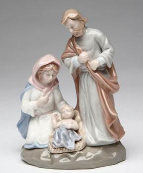 Miniature Holy Family Porcelain Sculpture