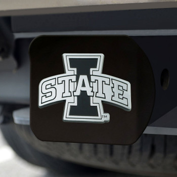 Iowa State University Hitch Cover - Chrome on Black