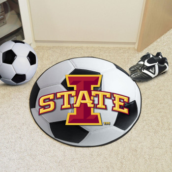 "27"" Iowa State University Soccer Ball Round Mat"