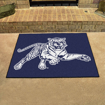 "33.75"" x 42.5"" Jackson State University All Star Navy Blue Rectangle Mat"