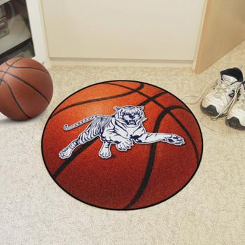 """27"""" Jackson State University Basketball Style Round Mat"""