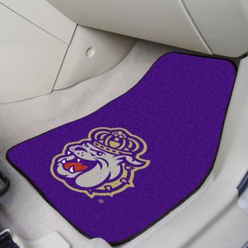 James Madison University Purple Carpet Car Mat, Set of 2