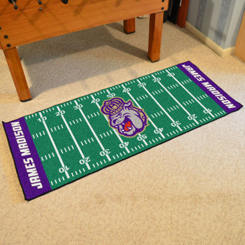 "30"" x 72"" James Madison University Football Field Rectangle Runner Mat"