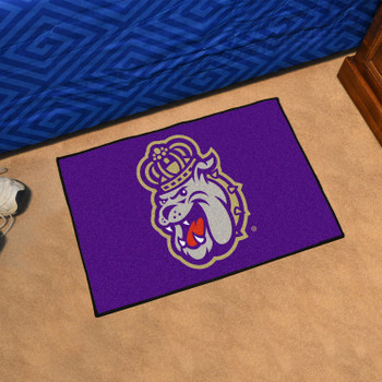 "19"" x 30"" James Madison University Purple Rectangle Starter Mat"