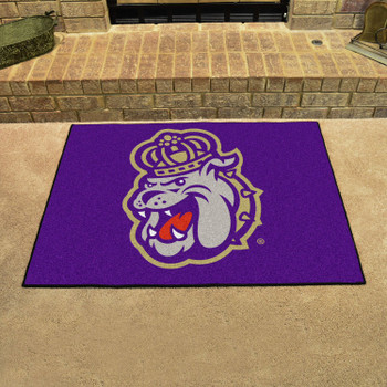 "33.75"" x 42.5"" James Madison University All Star Purple Rectangle Mat"