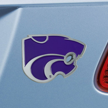 Kansas State University Purple Color Emblem, Set of 2