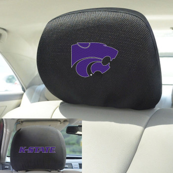 Kansas State University Car Headrest Cover, Set of 2
