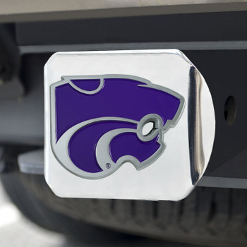 Kansas State University Color Hitch Cover - Chrome