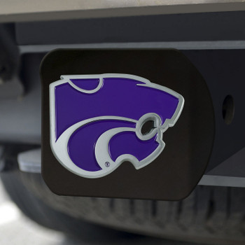 Kansas State University Hitch Cover - Color on Black