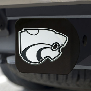 Kansas State University Hitch Cover - Chrome on Black