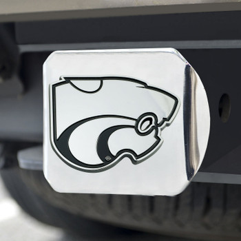 Kansas State University Hitch Cover - Chrome on Chrome