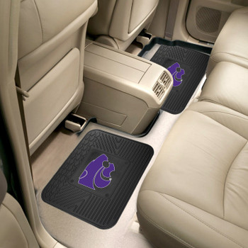 Kansas State University Heavy Duty Vinyl Car Utility Mats, Set of 2