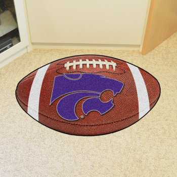 "20.5"" x 32.5"" Kansas State University Football Shape Mat"