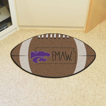 "20.5"" x 32.5"" Kansas State University Southern Style Football Shape Mat"