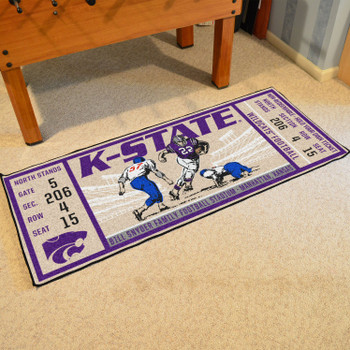 "30"" x 72"" Kansas State University Ticket Rectangle Runner Mat"
