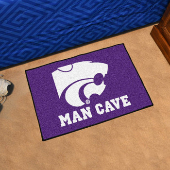 "19"" x 30"" Kansas State University Man Cave Starter Purple Rectangle Mat"
