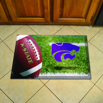 "19"" x 30"" Kansas State University Rectangle Scraper Mat - ""Wildcat"" Logo"