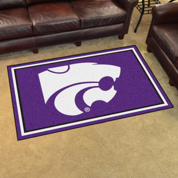 4' x 6' Kansas State University Purple Rectangle Rug