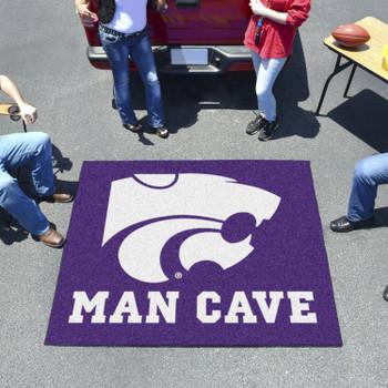 "59.5"" x 71"" Kansas State University Man Cave Tailgater Purple Rectangle Mat"