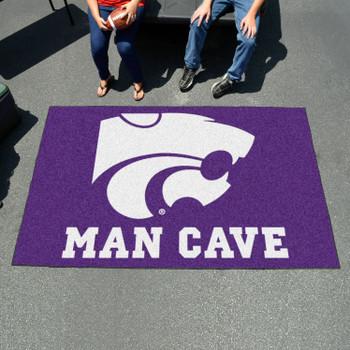 "59.5"" x 94.5"" Kansas State University Man Cave Purple Rectangle Ulti Mat"
