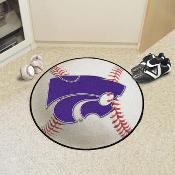 """27"""" Kansas State University Baseball Style Round Mat"""