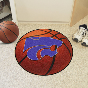 """27"""" Kansas State University Basketball Style Round Mat"""