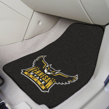 Kennesaw State University Black Carpet Car Mat, Set of 2