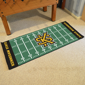 "30"" x 72"" Kennesaw State University Football Field Rectangle Runner Mat"