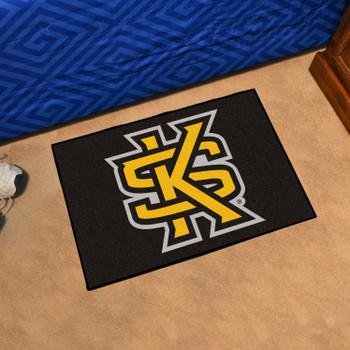 "19"" x 30"" Kennesaw State University Black Rectangle Starter Mat"
