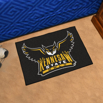 "19"" x 30"" Kennesaw State University Owls Black Rectangle Starter Mat"