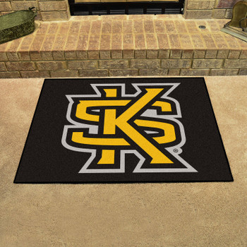 "33.75"" x 42.5"" Kennesaw State University All Star Black Rectangle Mat"