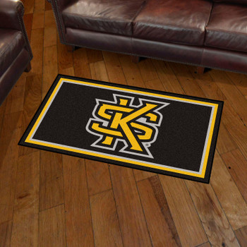 3' x 5' Kennesaw State University Black Rectangle Rug
