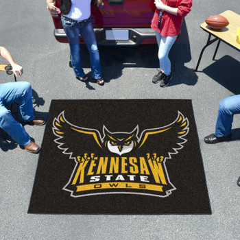 "59.5"" x 71"" Kennesaw State University Owls Black Tailgater Mat"
