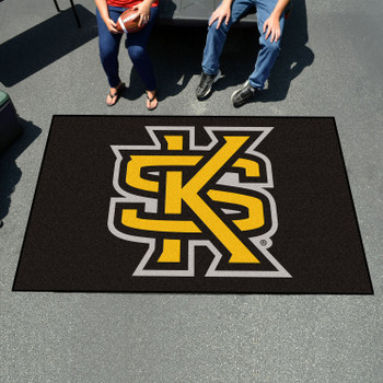 "59.5"" x 94.5"" Kennesaw State University Black Rectangle Ulti Mat"