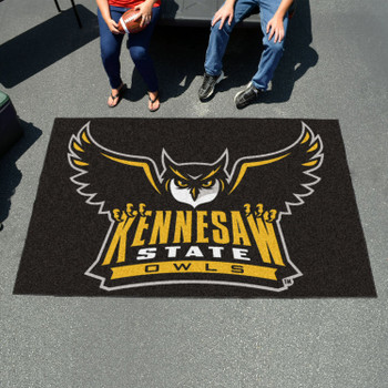 "59.5"" x 94.5"" Kennesaw State University Owls Black Rectangle Ulti Mat"