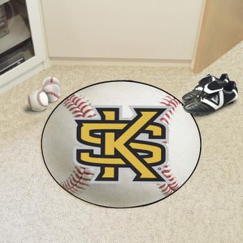 """27"""" Kennesaw State University Baseball Style Round Mat"""