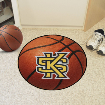 "27"" Kennesaw State University Orange Basketball Style Round Mat"